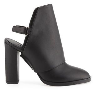 Vince. Jody 100% Leather Slingback Ankle Booties